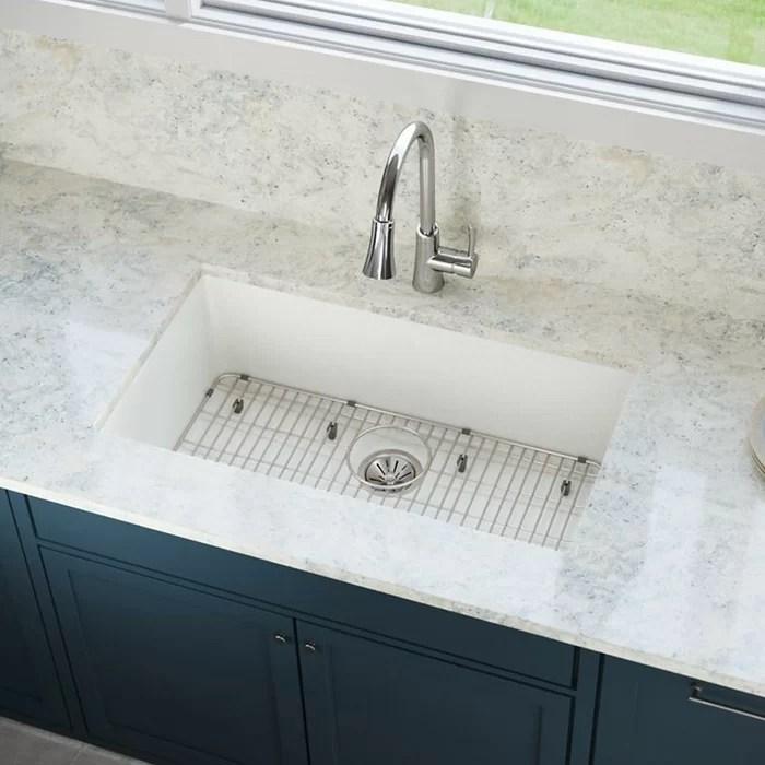 elkay kitchen sinks pre made cupboards quartz luxe 33 l x 18 w undermount sink reviews wayfair ca