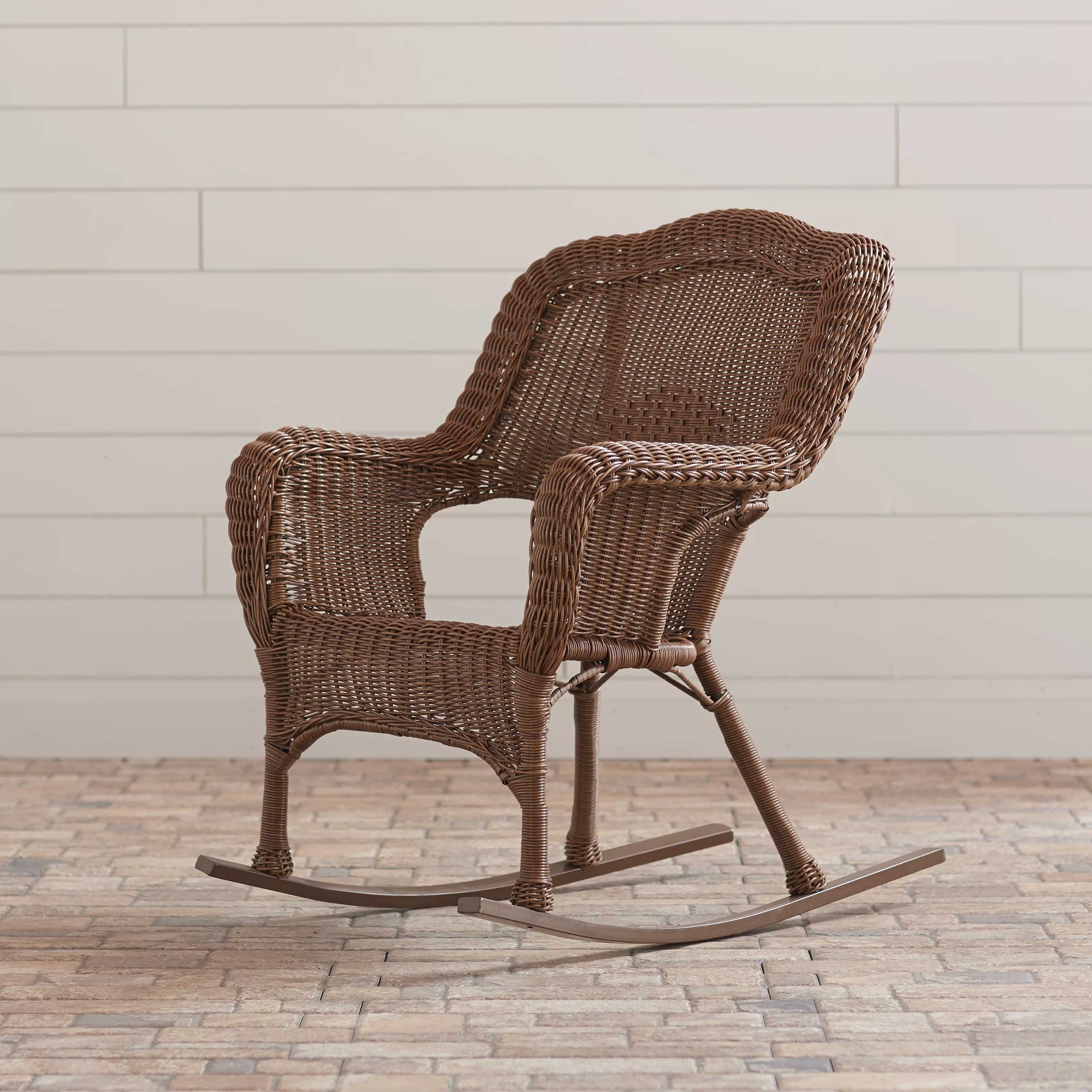 Wicker Rocking Chair Narron Wicker Resin Outdoor Rocking Chair