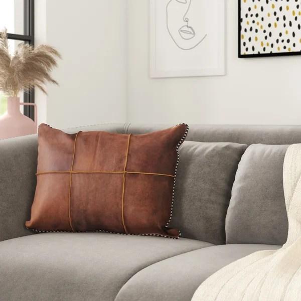 modern contemporary extra long lumbar pillow