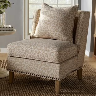 print chairs living room does a need coffee table animal accent you ll love wayfair kayleigh slipper chair