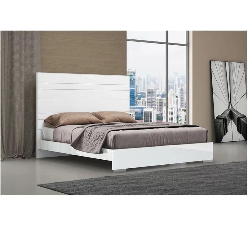 barcroft solid wood and upholstered platform bed