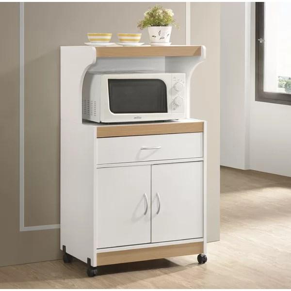 cherry wood microwave stand