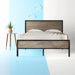 denelle metal and wood bed frame
