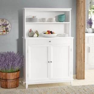 white kitchen buffet metal cabinets hutch wayfair asaad table