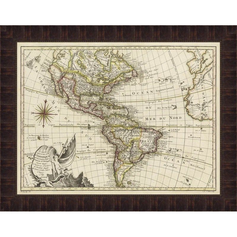 Trends A New Map of America Framed Graphic Art