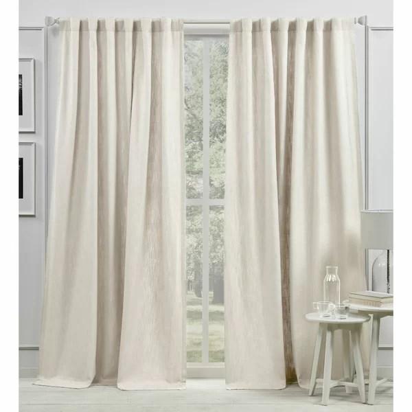 back tab white sheer curtains