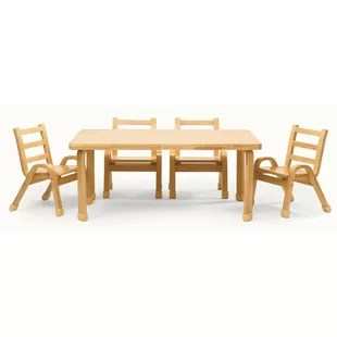 where to buy toddler table and chairs graco simple switch high chair feeding wayfair naturalwood 12 rectangle set