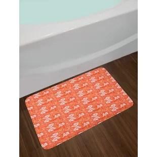 orange kitchen rug under mount sinks burnt wayfair bath