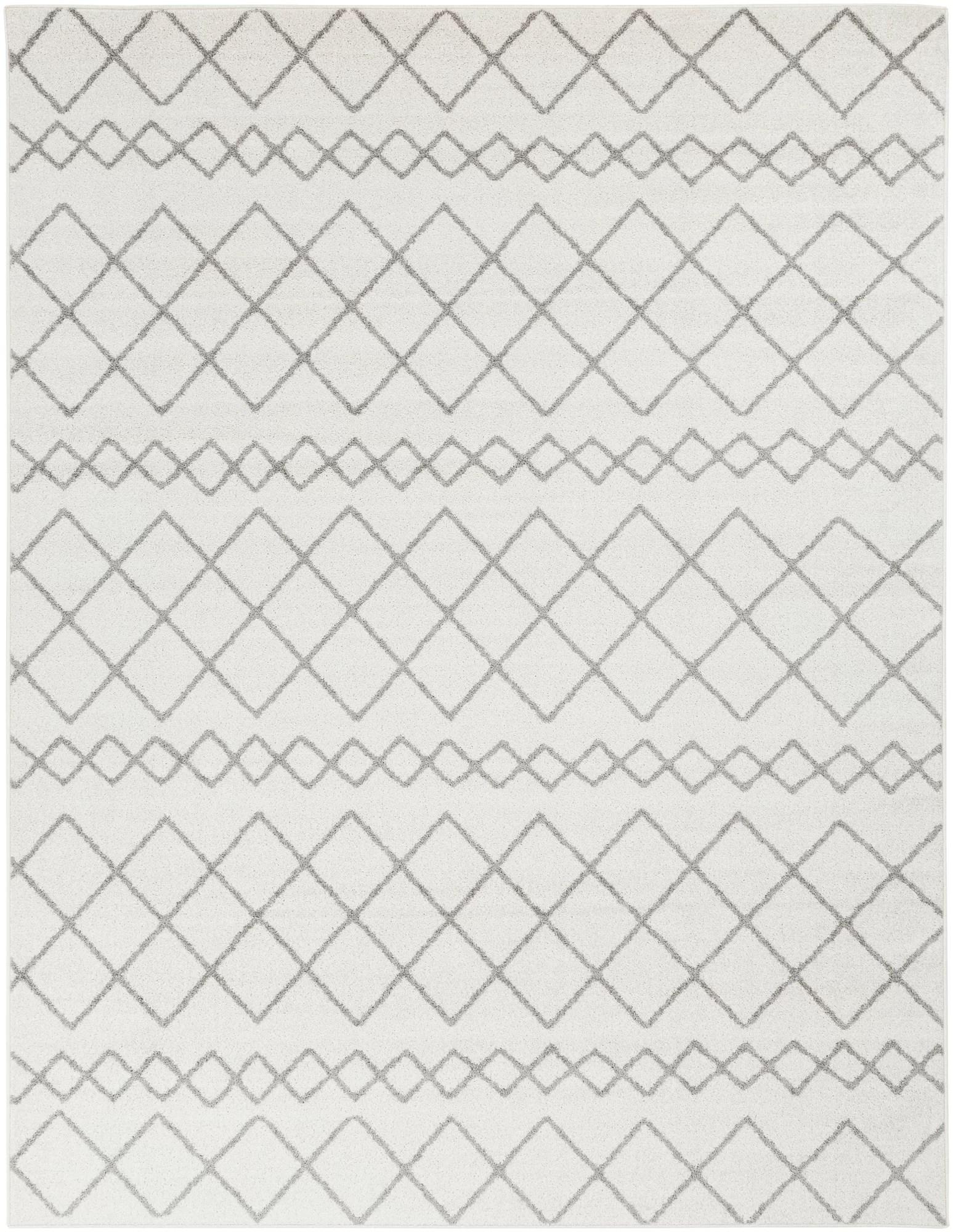 Union Rustic Calzada Global Gray White Area Rug