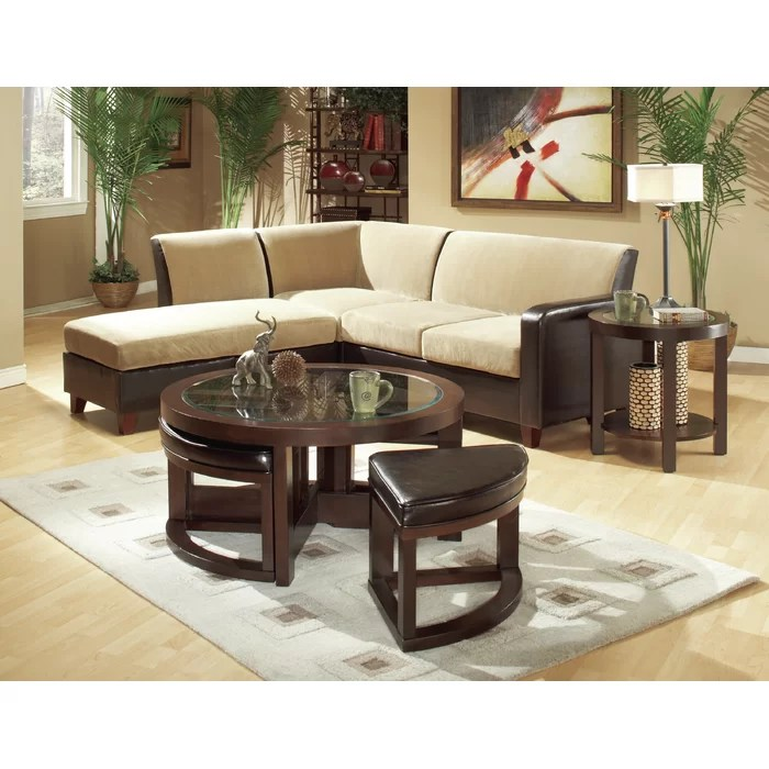 woodhaven living room furniture cheap black sets hill 3219 series coffee table with 4 ottomans reviews wayfair ca