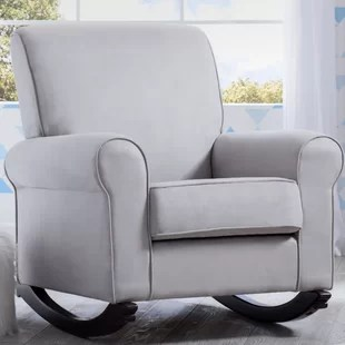 gray rocking chair for nursery swing no stand grey rocker wayfair quickview dove
