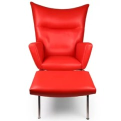 Red Leather Chair And Ottoman Oversized Chairs For Living Room Included You Ll Love Wayfair Quickview