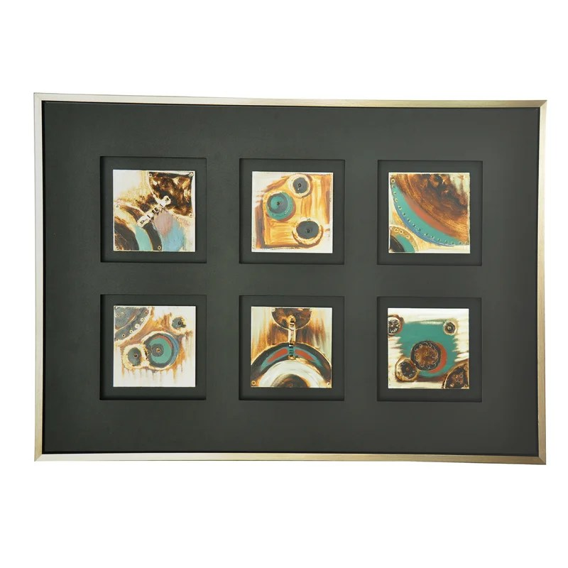 Color Tiles Framed Painting Print