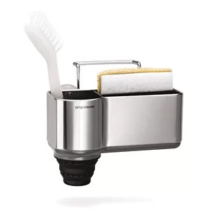 simplehuman kitchen stainless steel sink caddy