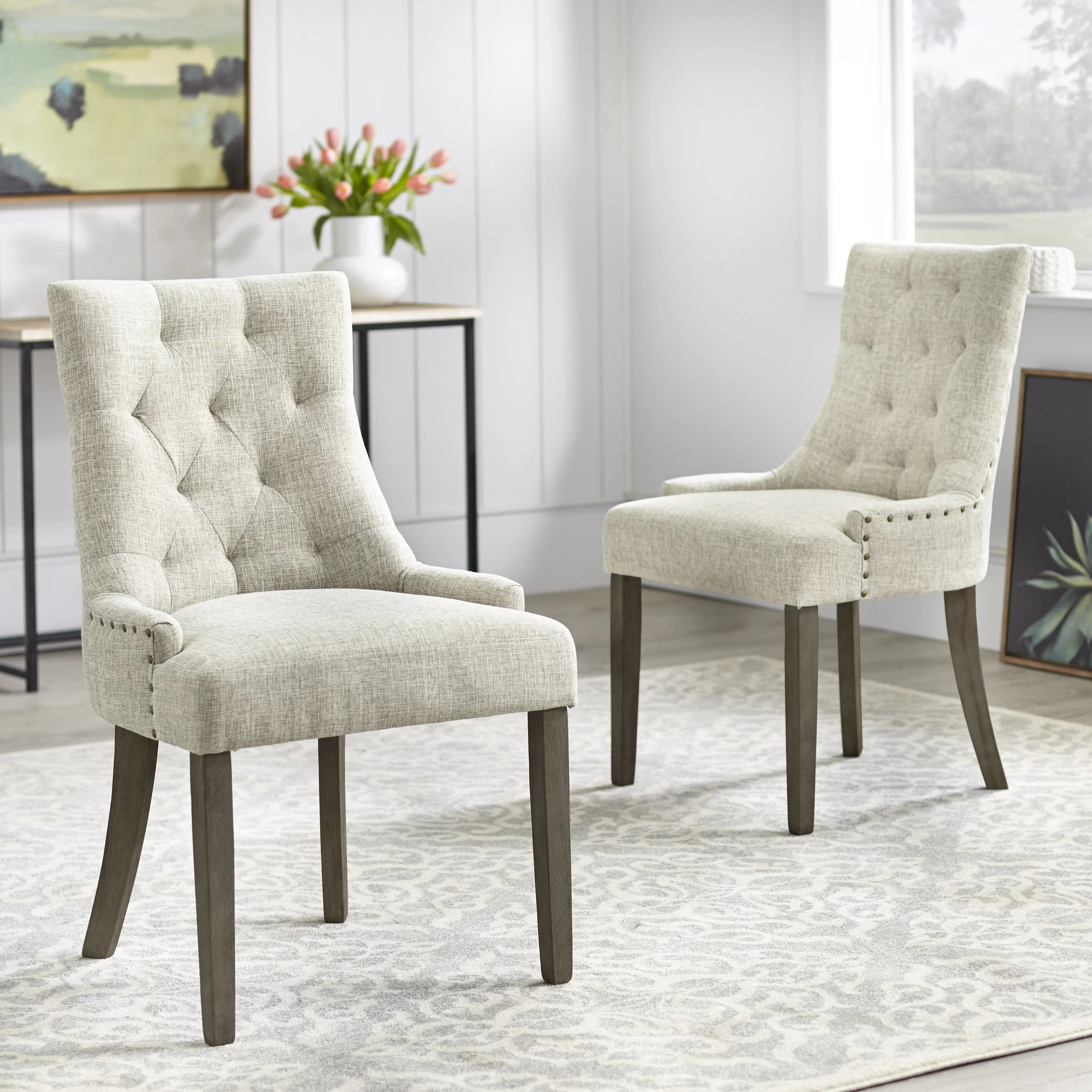 Wayfair Host Chairs Upholstered High Back Dining Chairs