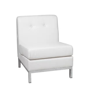 leather chair modern covers for folding chairs wedding contemporary white allmodern quickview
