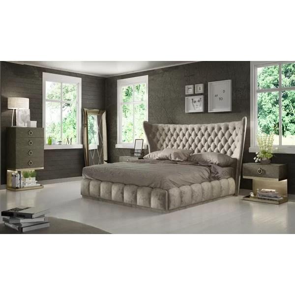 Everly Quinn Jerri King 3 Piece Bedroom Set Wayfair