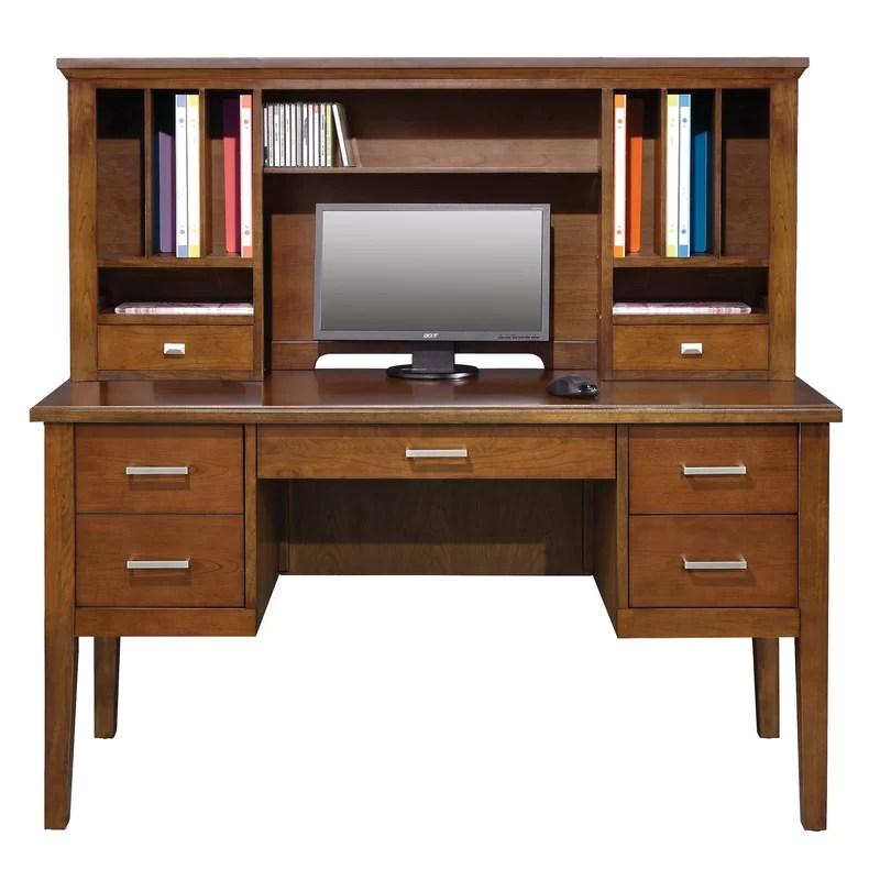 Eaton 24 H x 54 W Desk Hutch Finish: Brown Cherry