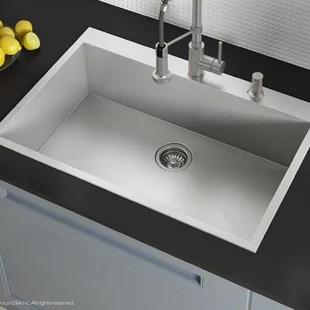 best kitchen sink budget cabinets sinks joss main pax zero radius topmount series 33 x 22 drop in