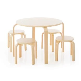 round table and chairs set white modern windsor chair kids sets allmodern
