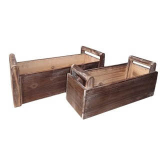 Phoenix 2 Piece Wood Planter Box Set