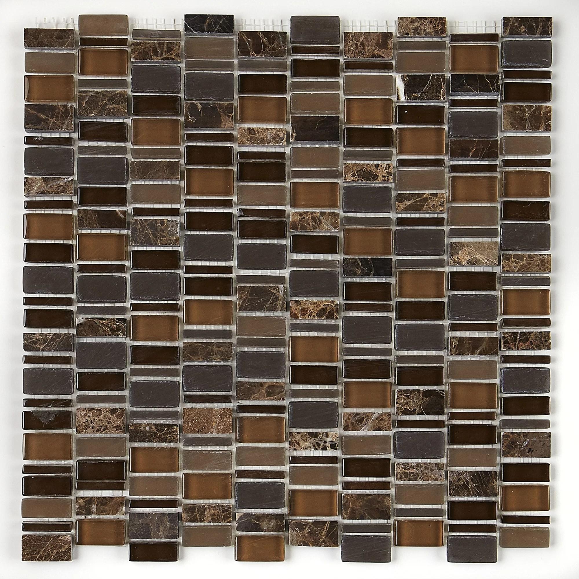 clio daltile 1 x 1 glass mosaic tile