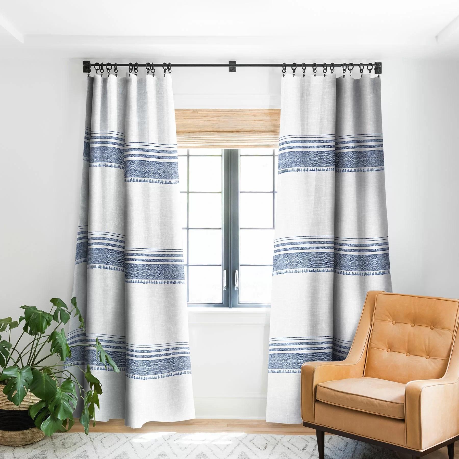 holli zollinger striped blackout rod pocket single curtain panel
