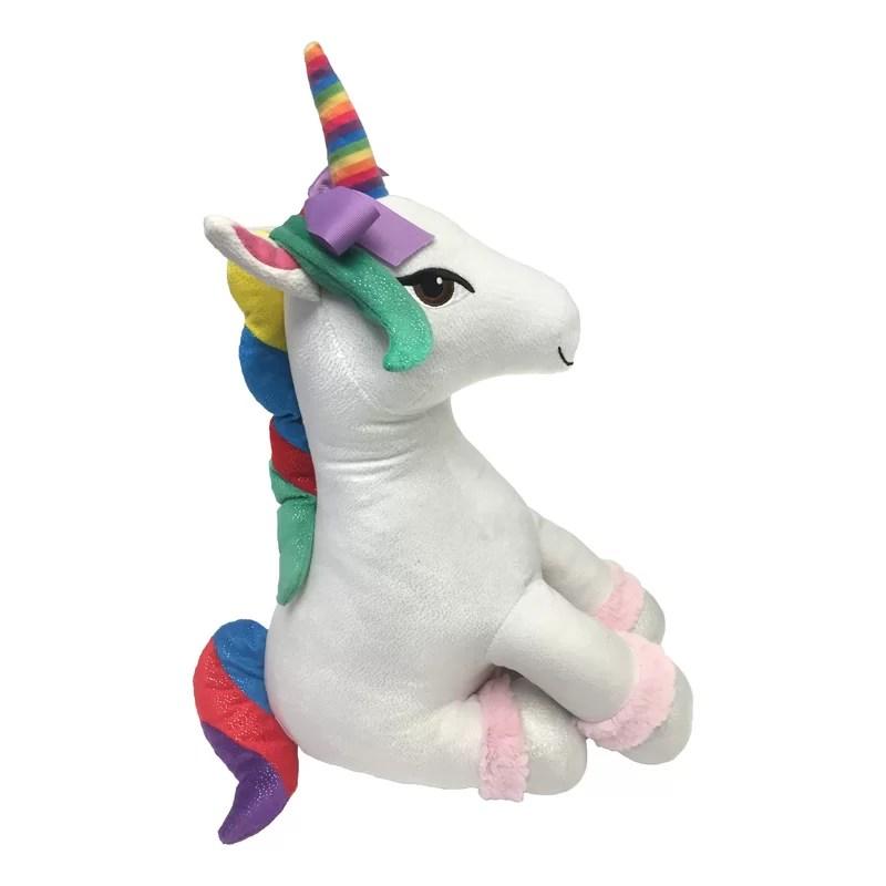 sparkle rainbow unicorn backrest pillow