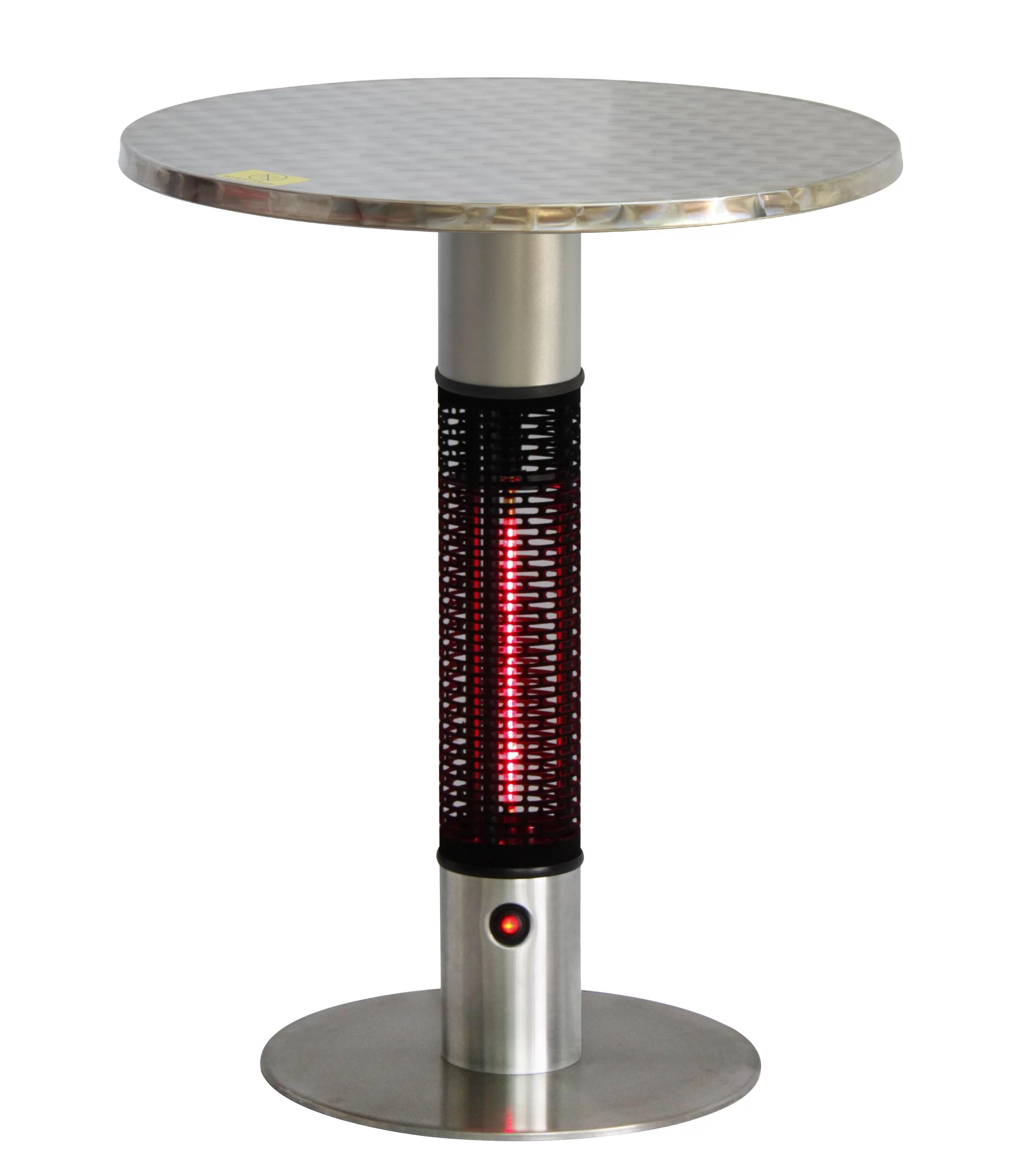 infrared 1500 watt electric tabletop patio heater