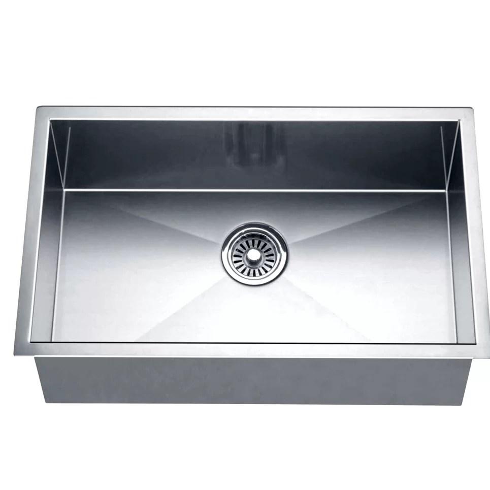 square kitchen sink rustic 26 l x 18 w under mount single bowl reviews allmodern
