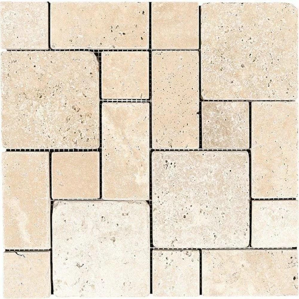 travertine versailles mosaic wall floor tile