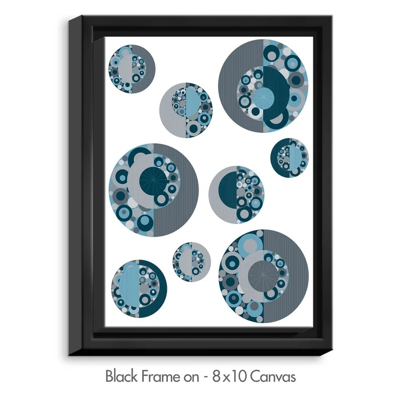 Circle Around by Valerie Lorimer Graphic Art on Wrapped Framed Canvas Size: 15.75 H x 12.75 W x 1.75 D Frame Color: Black