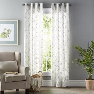 curtains in living room images white paint colours for pattern wayfair quickview
