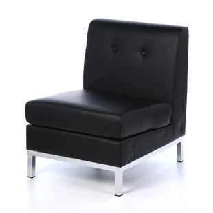 leather chrome chair steel hd image black and wayfair quickview
