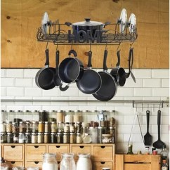Kitchen Pot Racks Kitchens On A Budget You Ll Love Wayfair Ca Decorative Wall Mounted Rack