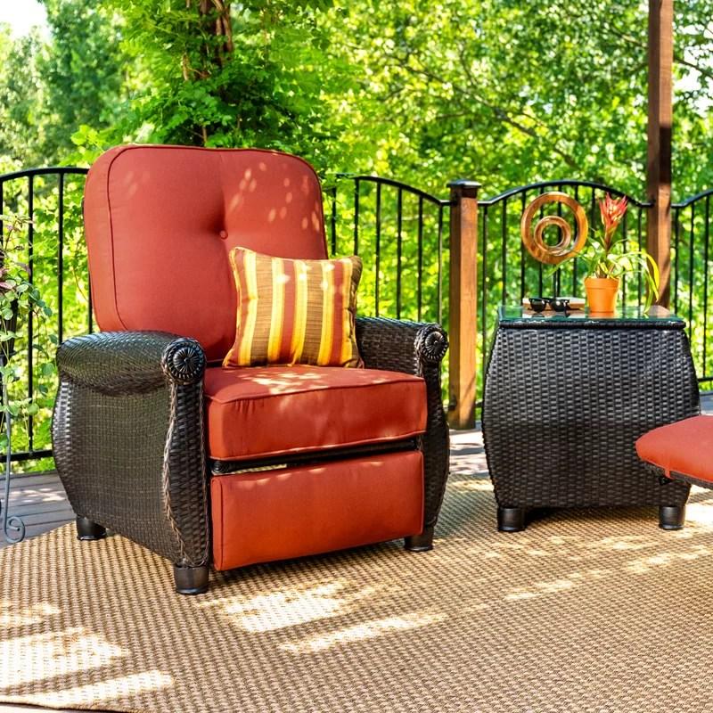 breckenridge recliner patio chair with sunbrella cushions