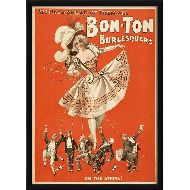Bon Ton Burlesquers on the String Framed Vintage Advertisement