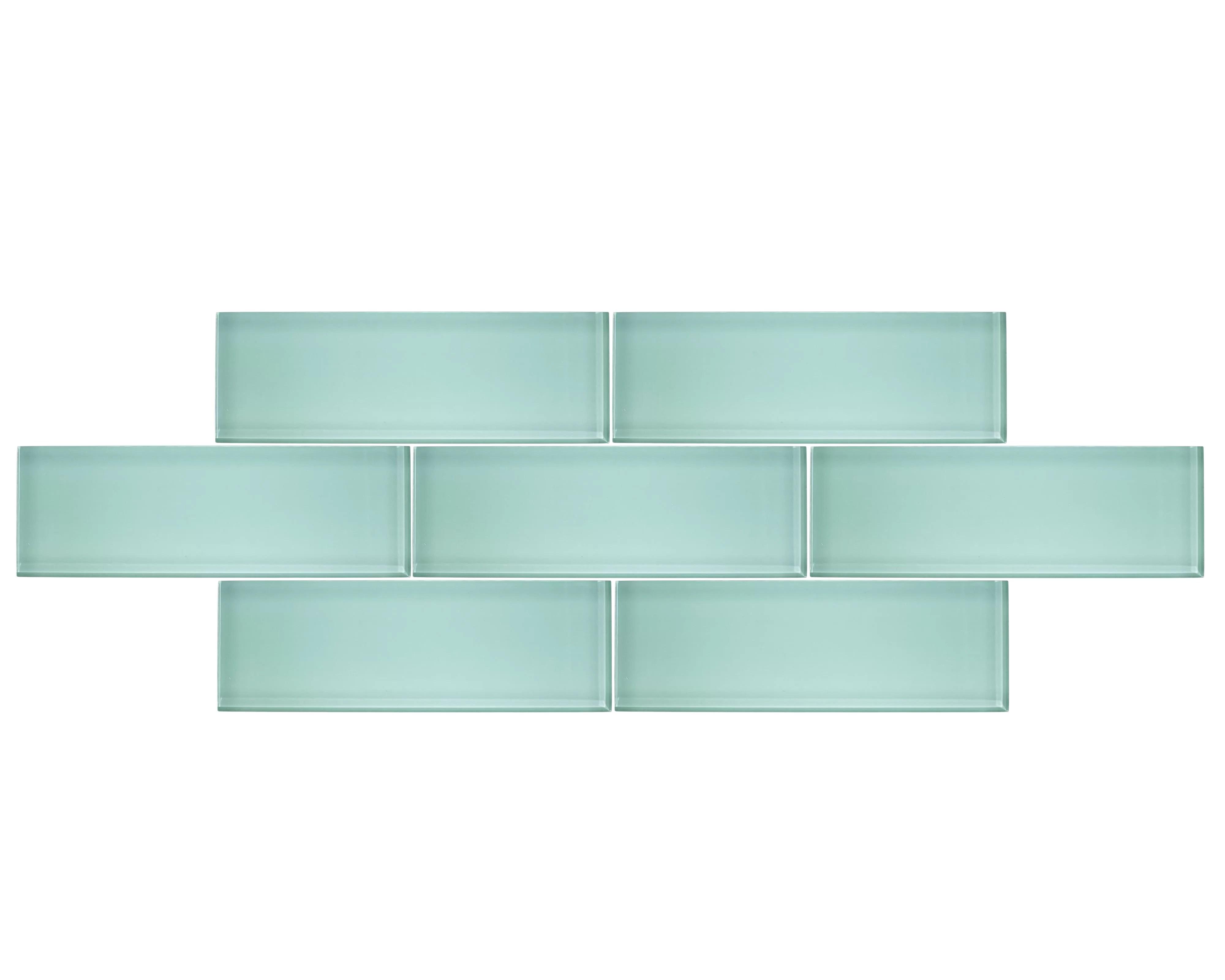4 x 12 sample piece seaside blue 4x12