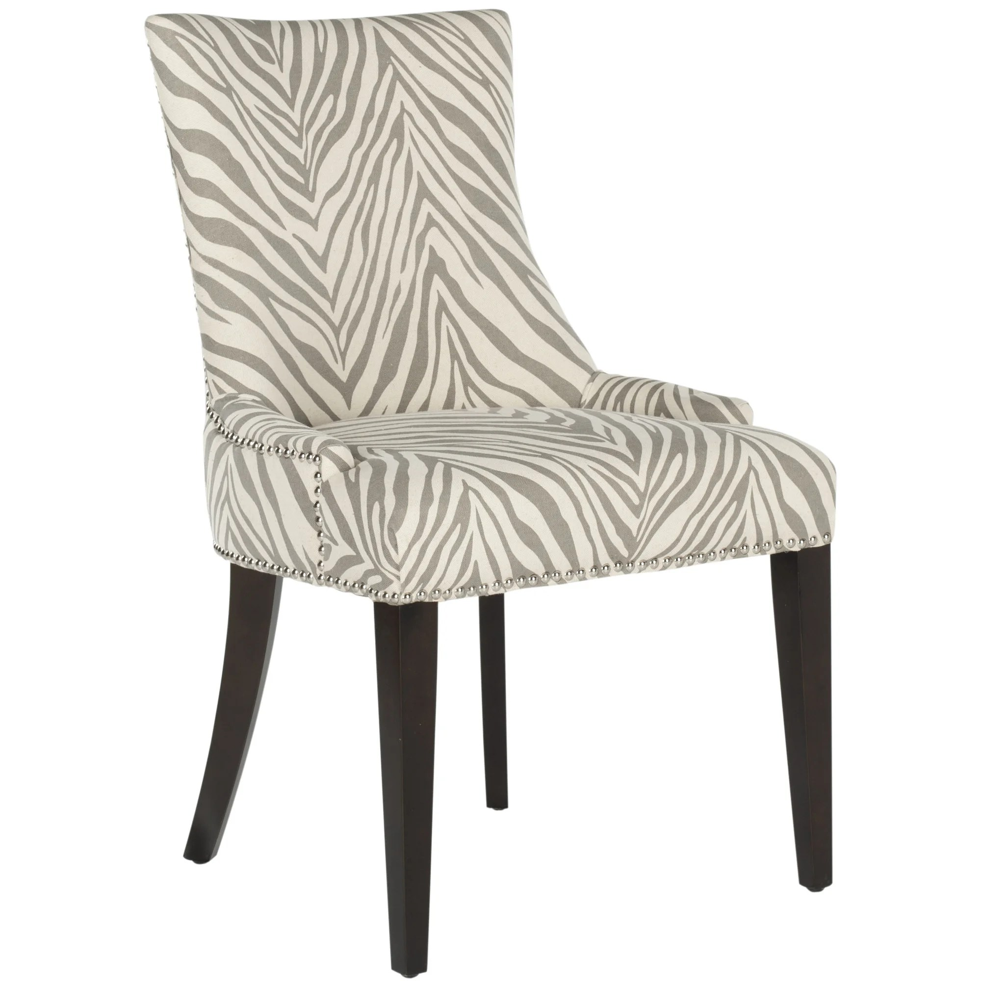 zebra dining chairs black white barber chair brayden studio alpha centauri upholstered side in