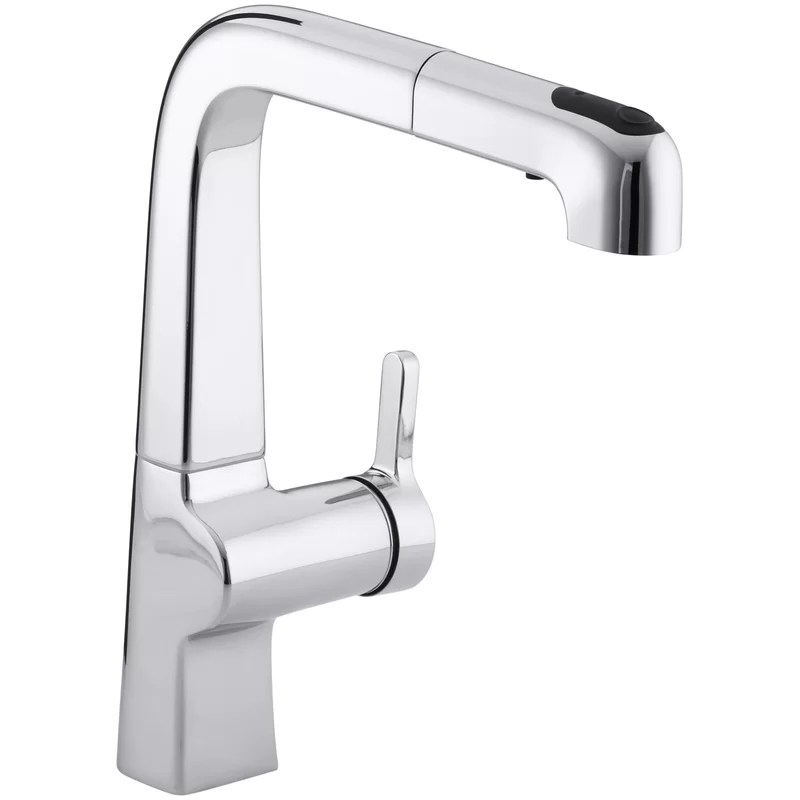 evoke single hole kitchen sink faucet with 9 pullout spout with promotion and masterclean