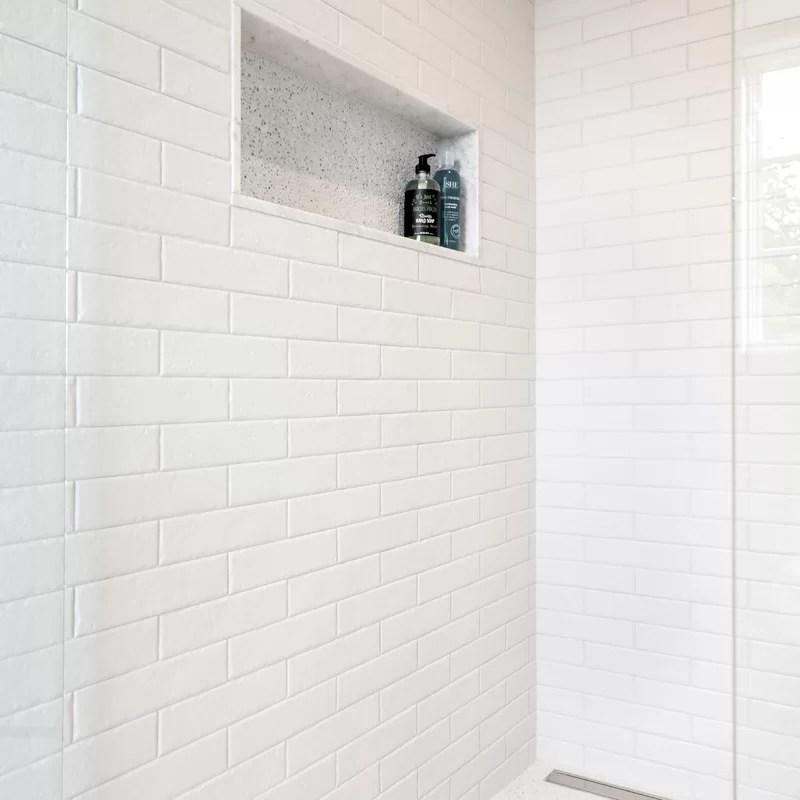 brooklin series 2 38 x 10 porcelain stone look wall floor tile