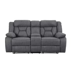 Black Reclining Sofa With Console Diamond Park Avenue Bed King Loveseats Sofas You Ll Love Wayfair Quickview