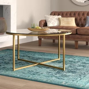 glass living room table choosing a painting for coffee tables you ll love wayfair ca