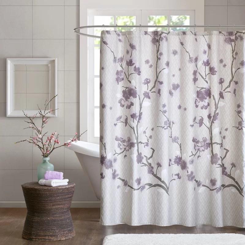 cotton single shower curtain