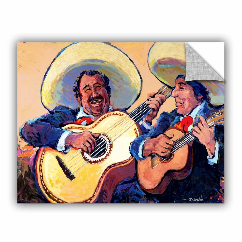 Mariachi De Cabo by Rick Kersten  Removable Wall Decal Size: 18 H x 24 W x 0.1 D