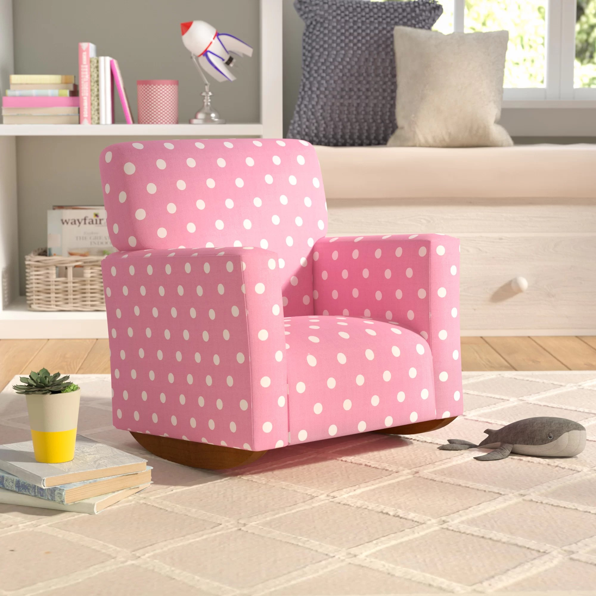 polka dot rocking chair cushions tempur pedic office tp8000 reviews mack milo cairo kids cotton wayfair
