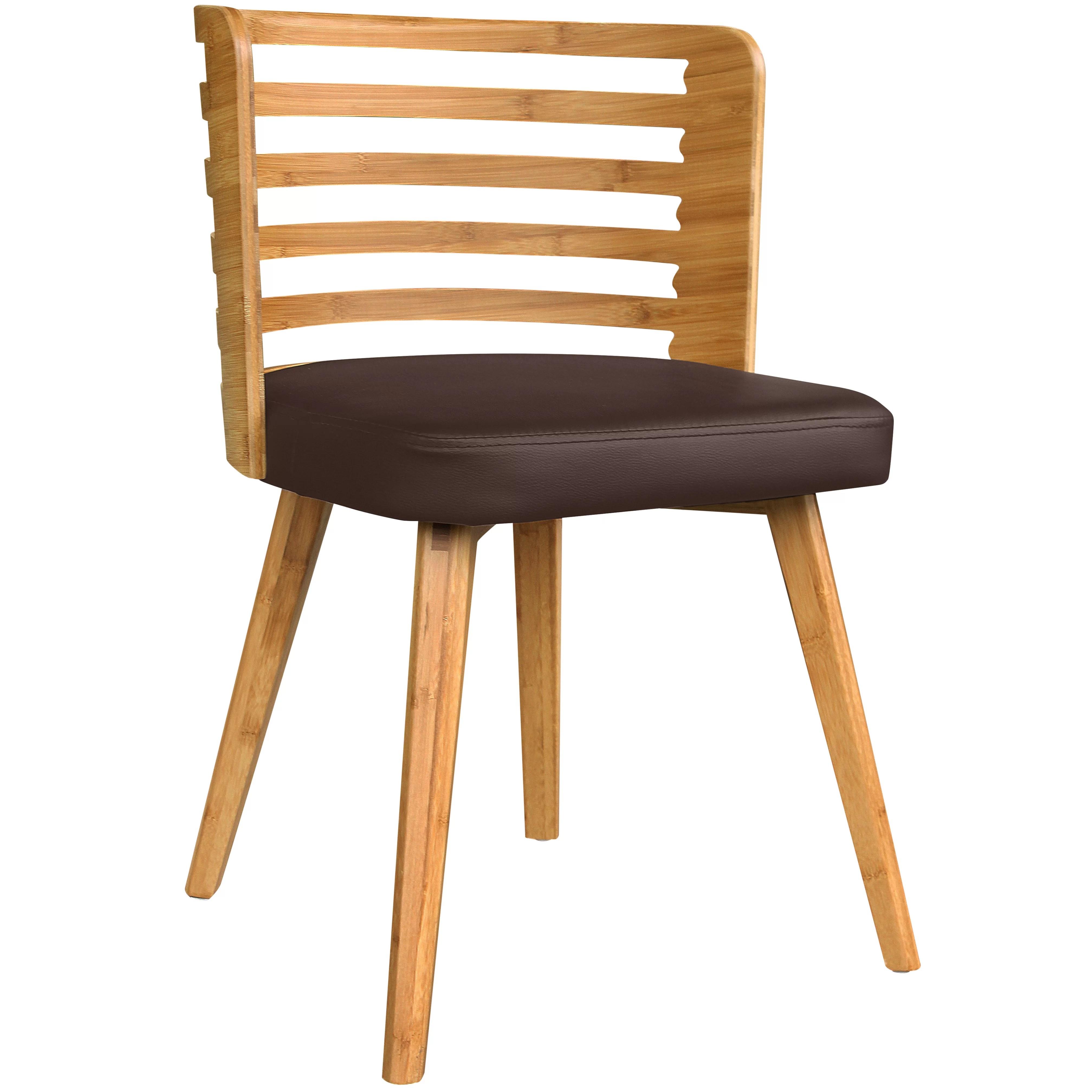 bamboo dining chair tokuyo massage brayden studio westhoff upholstered wayfair