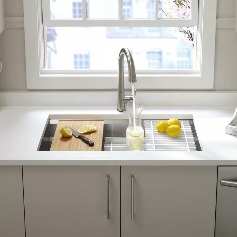 undermount single bowl kitchen sink design layout k 5540 na kohler prolific 33 l x 17 3 4 w 11 with accessories