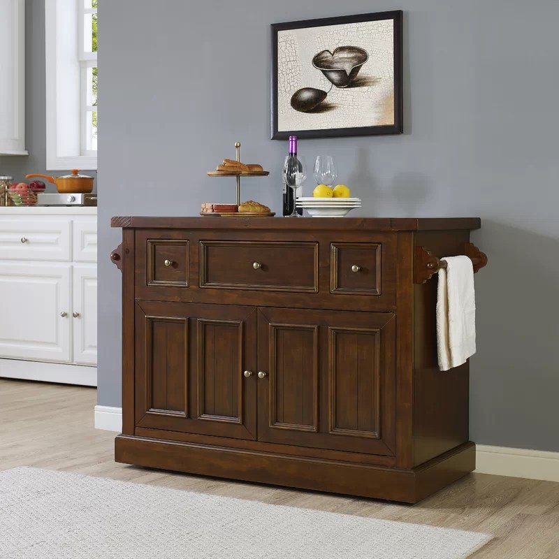 kitchen island marble top walmart chairs ordway with reviews joss main