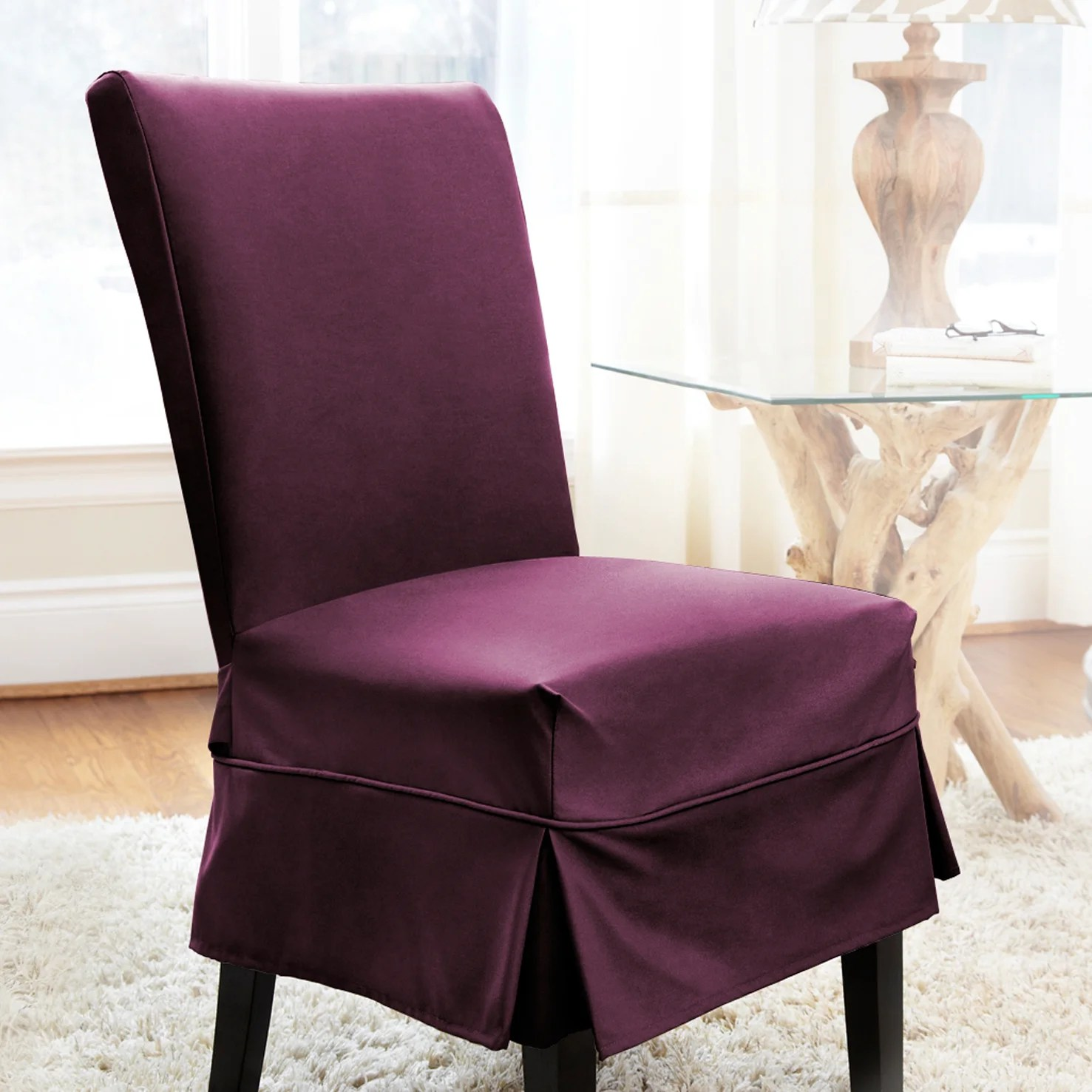 parsons chair covers canada dining in pakistan darby home co parson skirted slipcover with piping